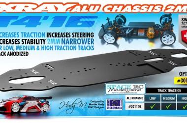 T4'16 2mm aluminium main chassis plate   XRAY