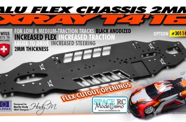 T4'16 aluminium flex chassis | XRAY