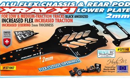 X1 2.0mm aluminium flex chassis | XRAY